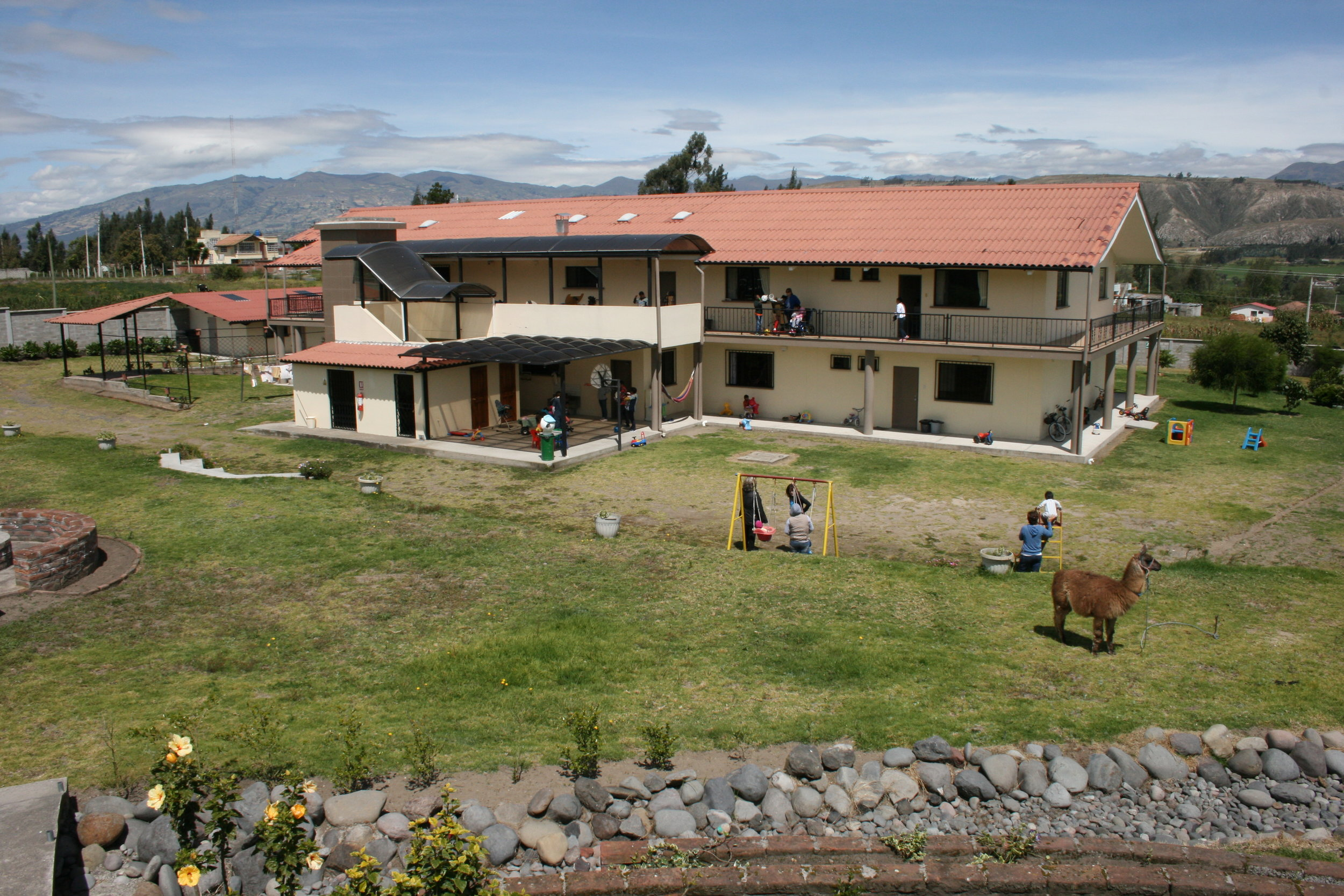 The completed 11,000 ft. home Dean designed & built in Latacunga, Ecuador