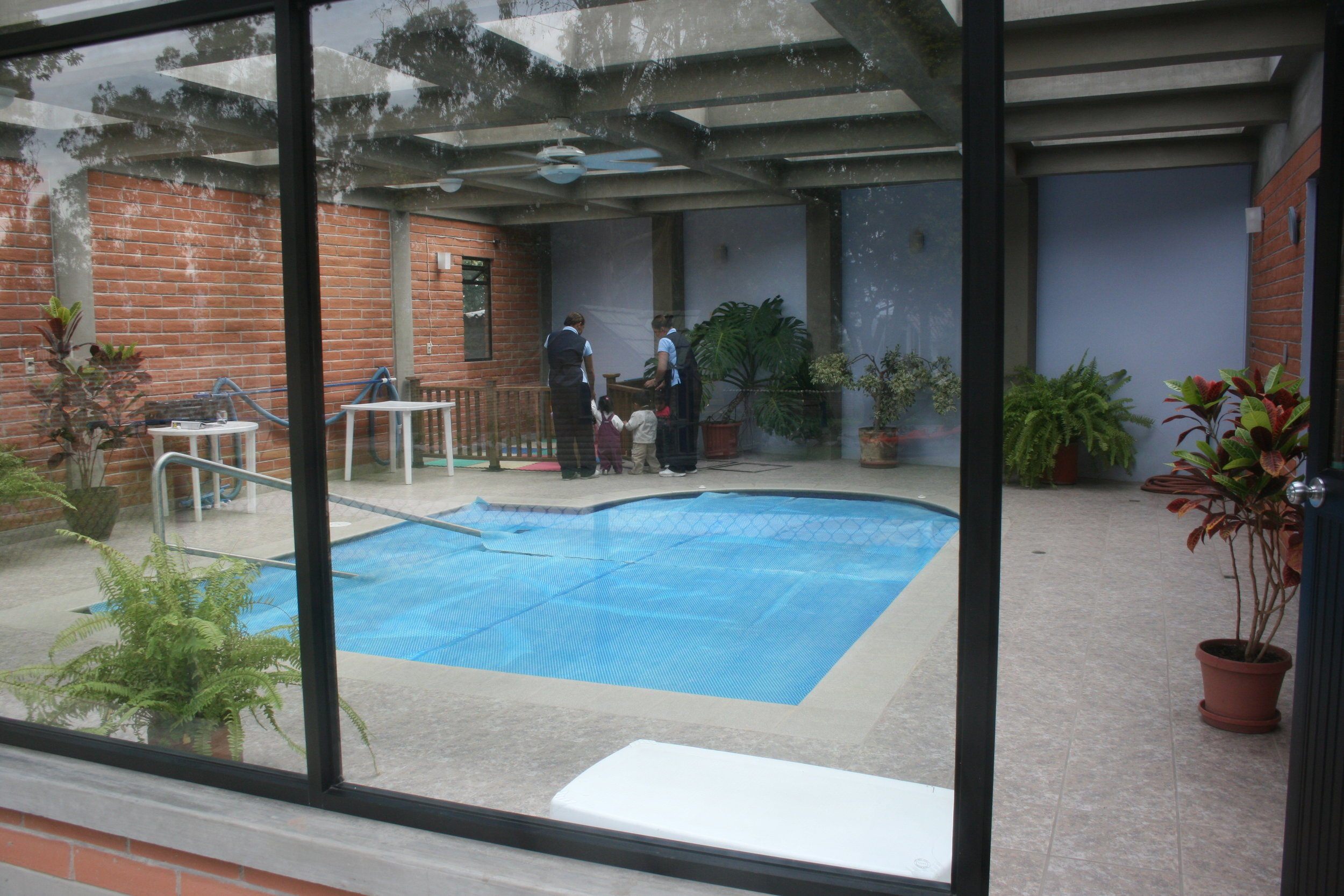 Therapy pool building in Quito, Ecuador