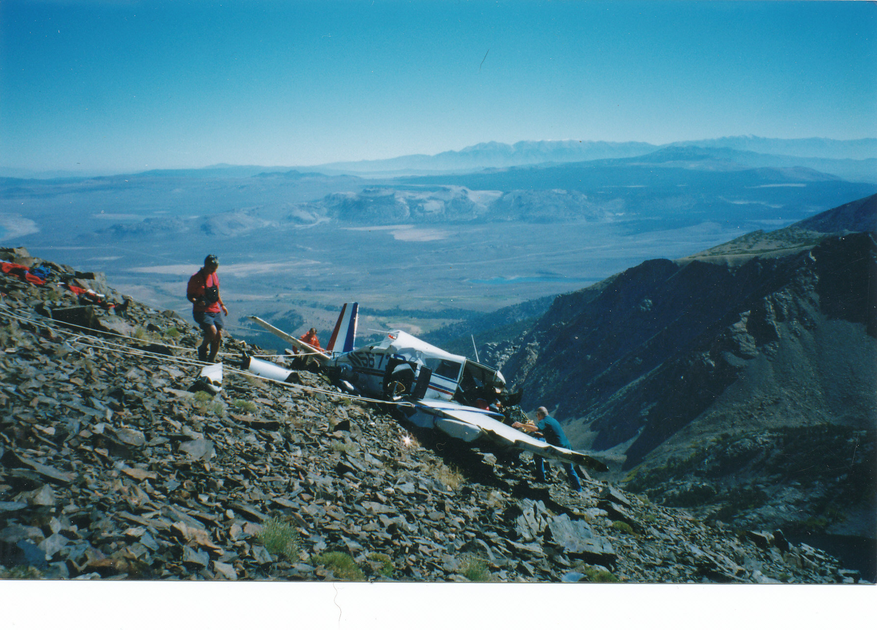 Recovering the victims of a plane crash at 11,000 ft.