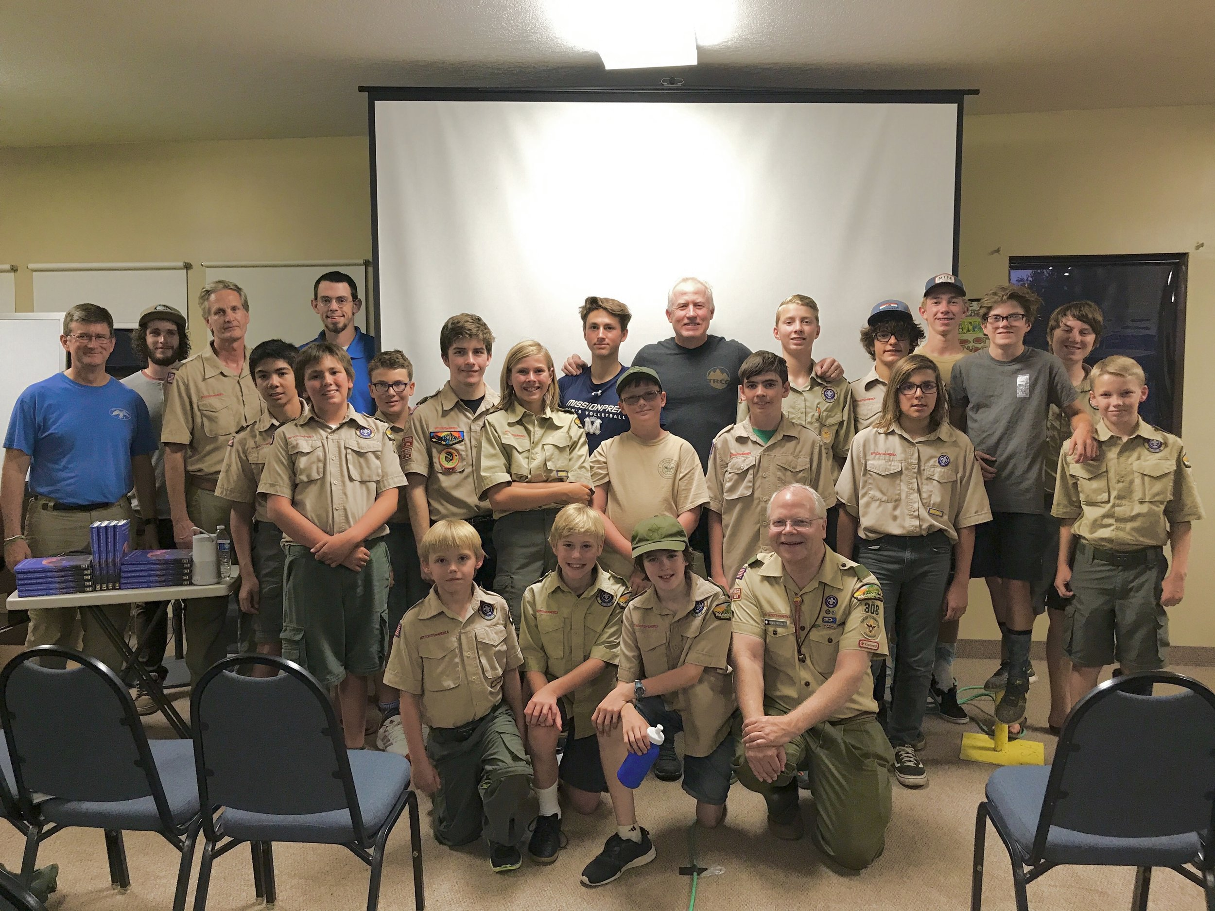 SAR presentation for Boy Scout group