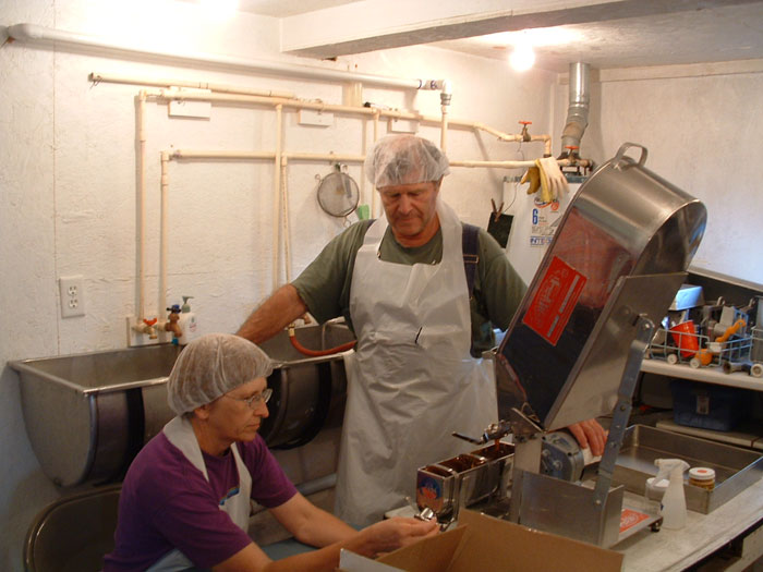 Phil and Sarah process syrup cooked 23 degrees above the boiling point of water.