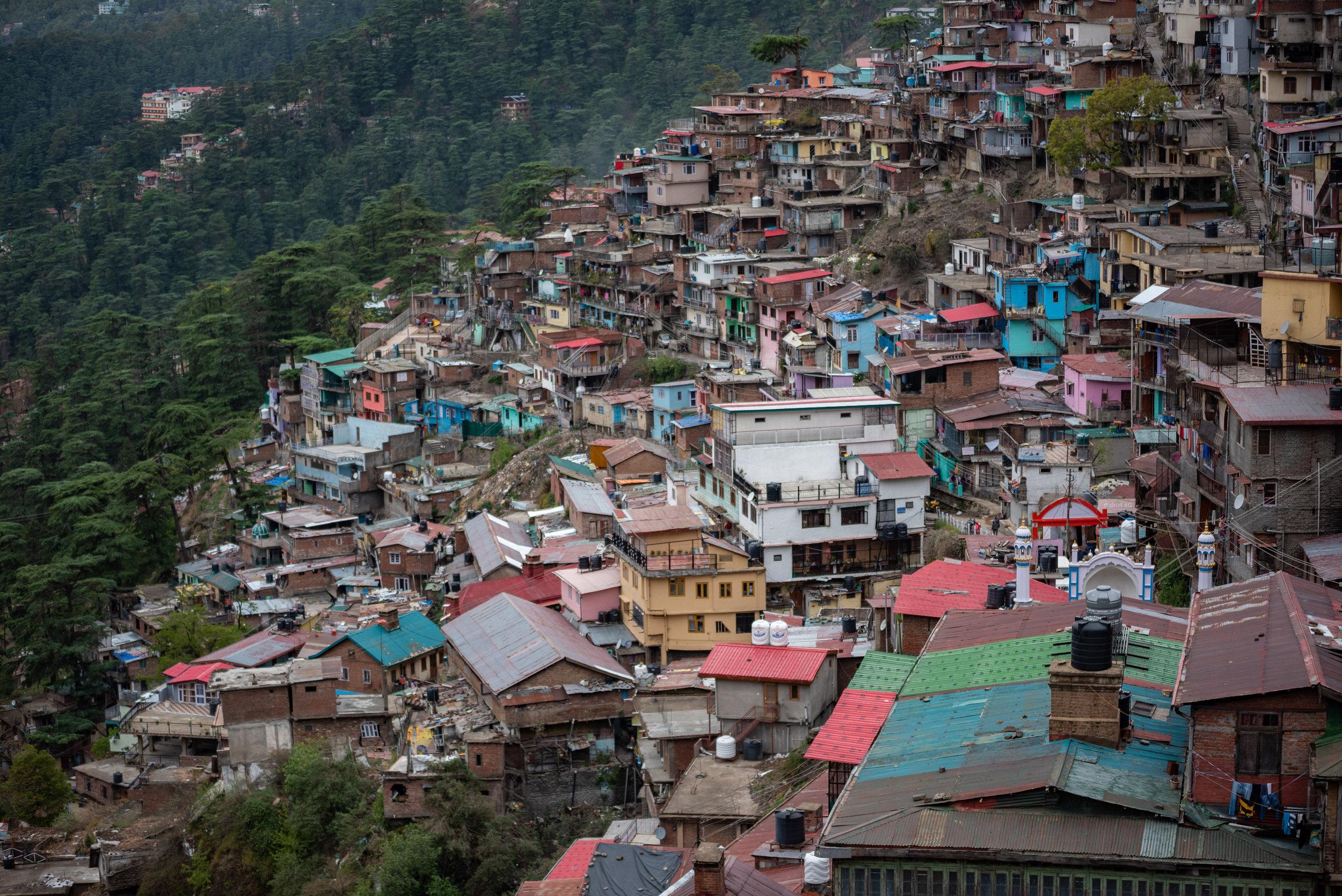 Krishnanagar laid out along the lower hill slopes of Shimla