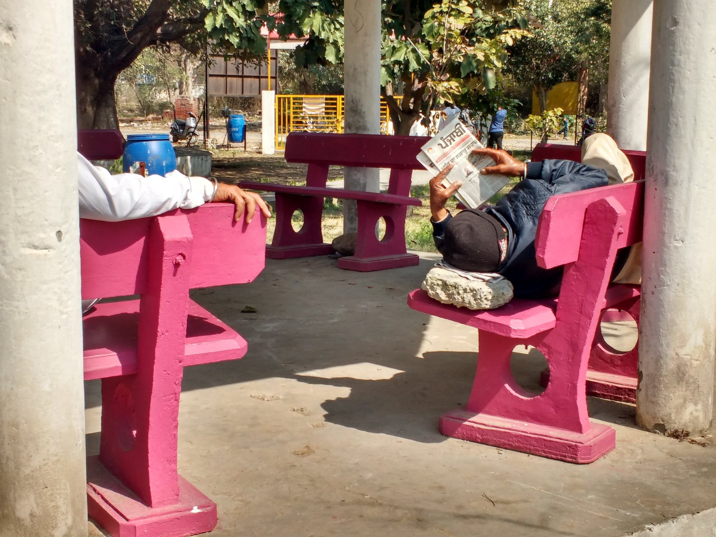 For many of the senior citizens adjoining the nearby colonies, the park area provides an important leisure place