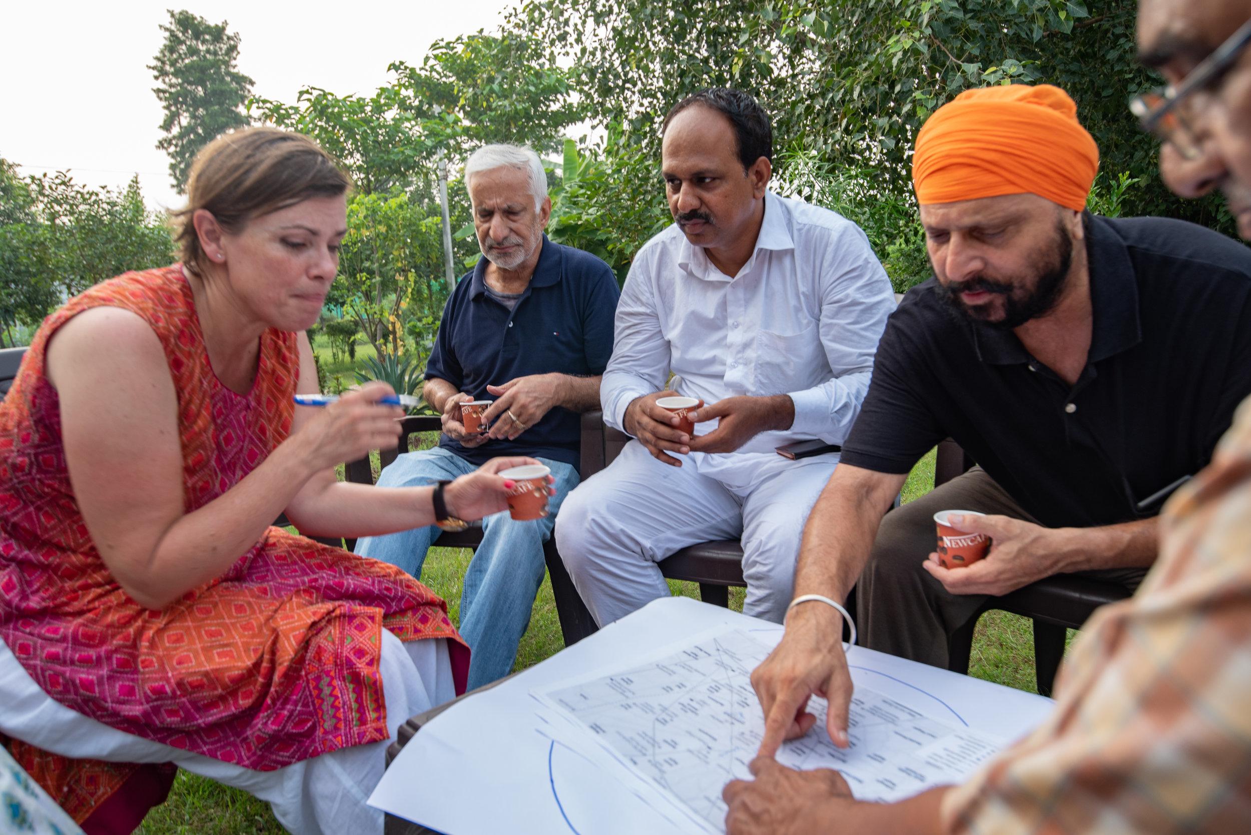 Group 2 discussing Jalandhar's assets