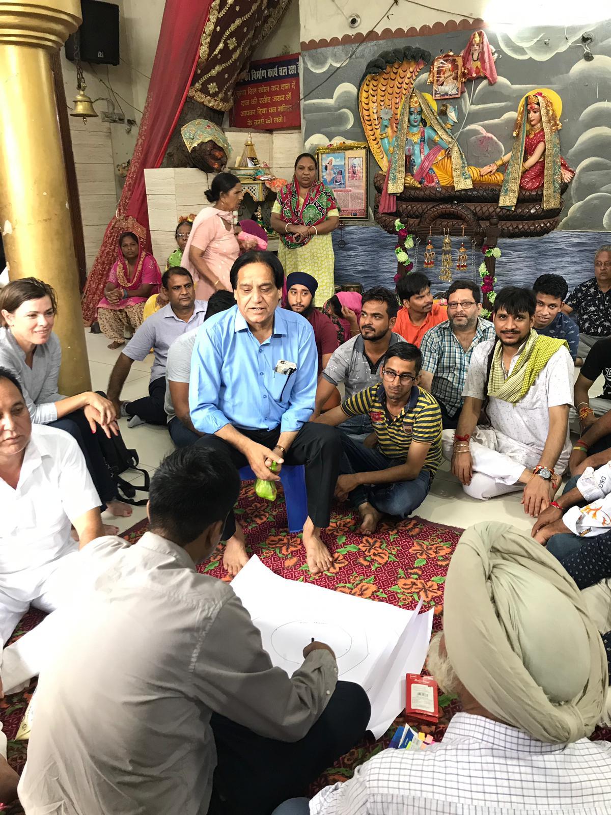 Vendors mapping the assets at Sudama market adjoining Jyoti Chowk.