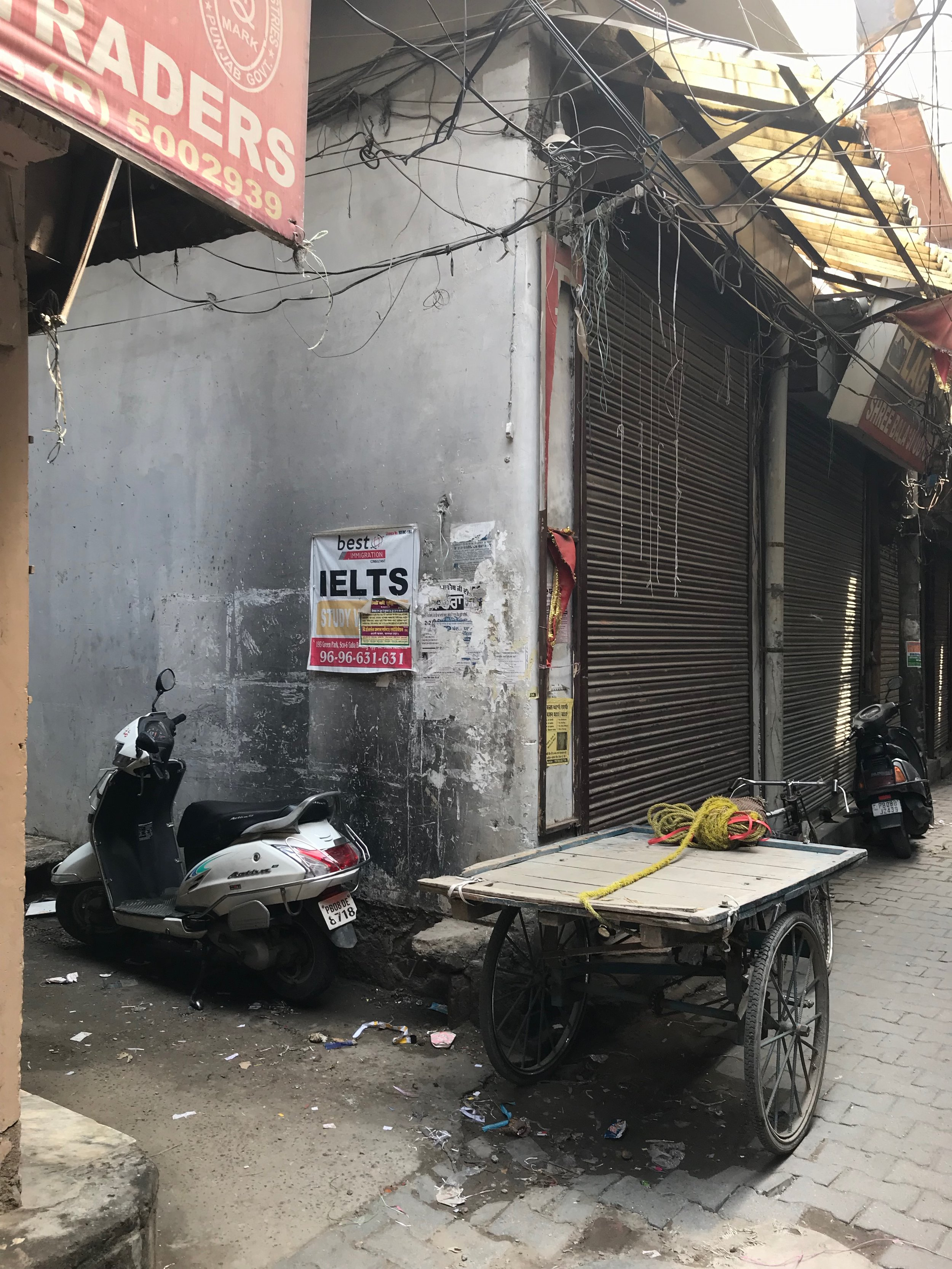 IELTS signs around every corner of the city