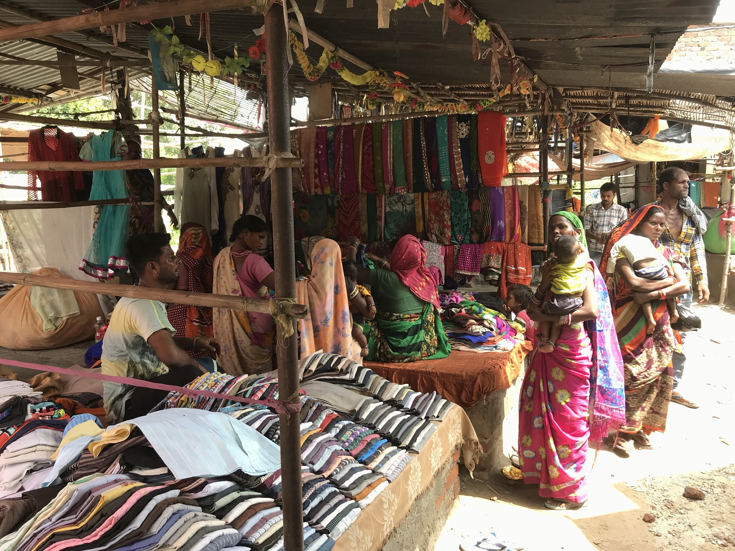 Second-hand clothes market