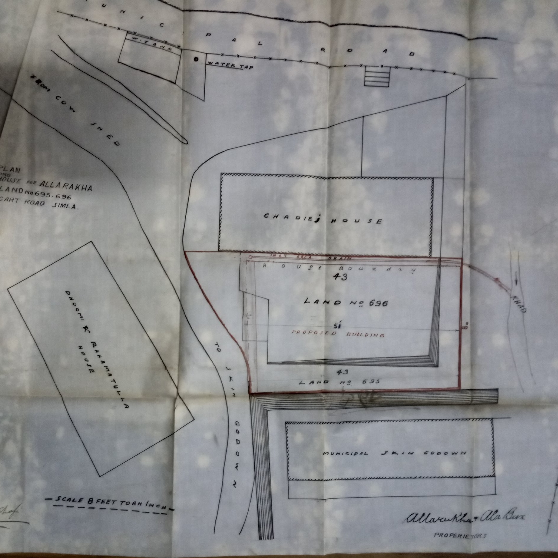 Site plan of building near Slaughter House