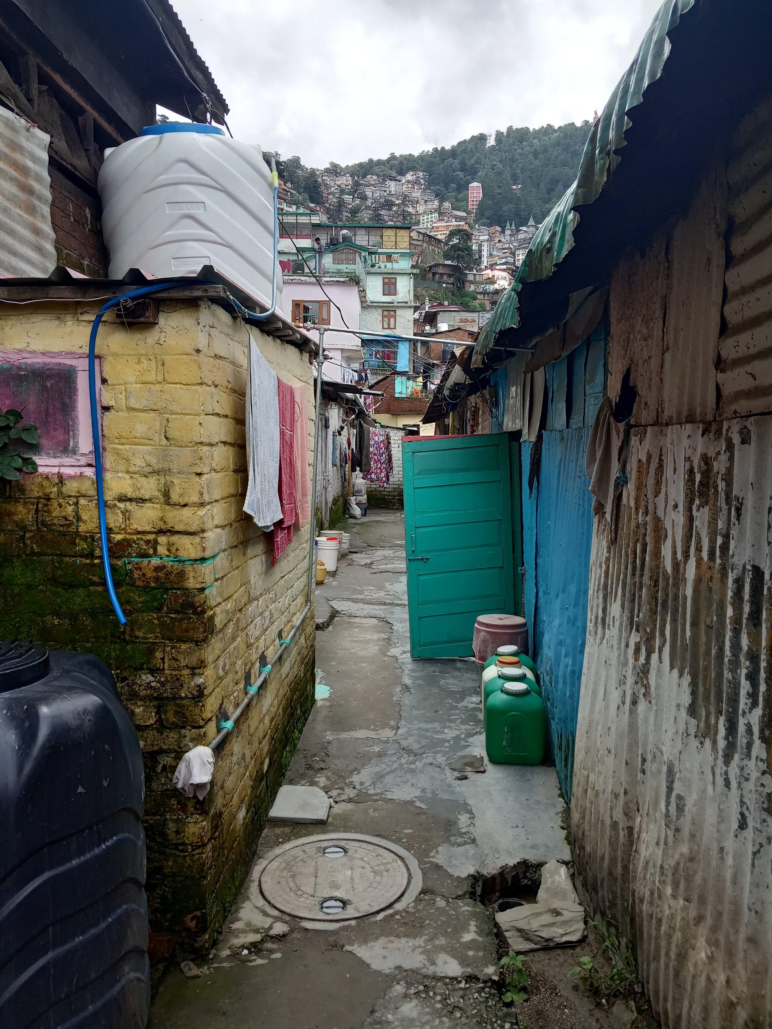 Houses below Cart Road