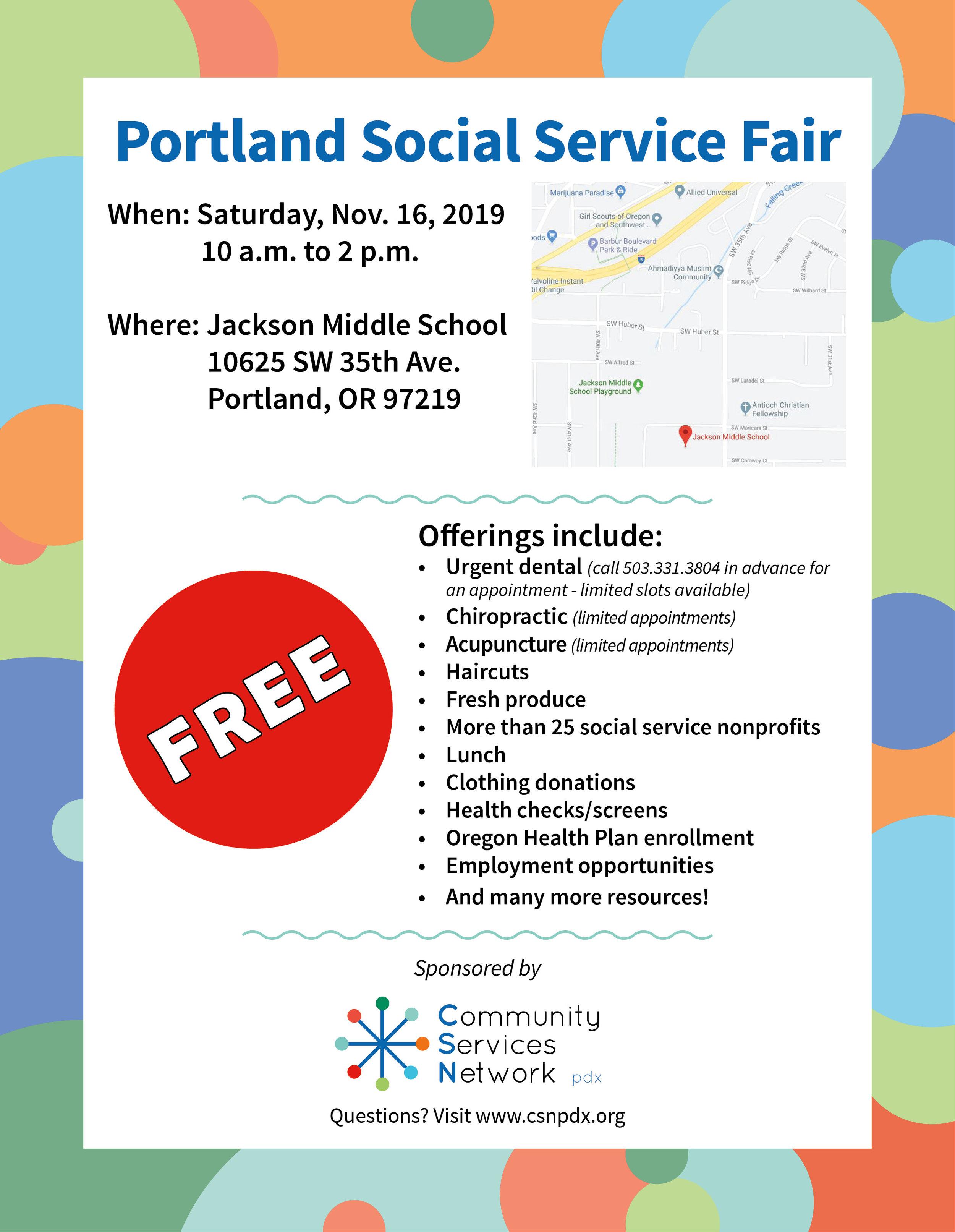 Social Service Fair #5 Flyer - 8.5x11 - November 16, 2019 - print.jpg
