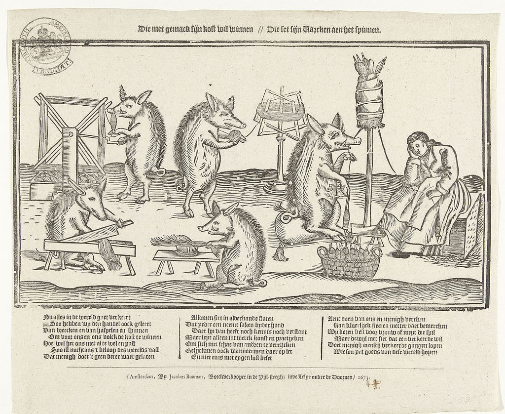The Spinning Sow, 1673,      https://publicdomainreview.org/collections/the-spinning-sow-1673/