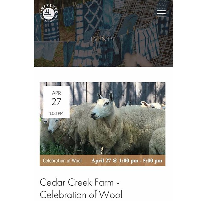Celebration of Wool is happening this Saturday from 1-5 pm, graciously hosted by @cedar.creek.farm + @flax.moon .  Check out cedarcreekfarmky.com for more details or follow the event link in our profile that will direct you their way after a few clicks.