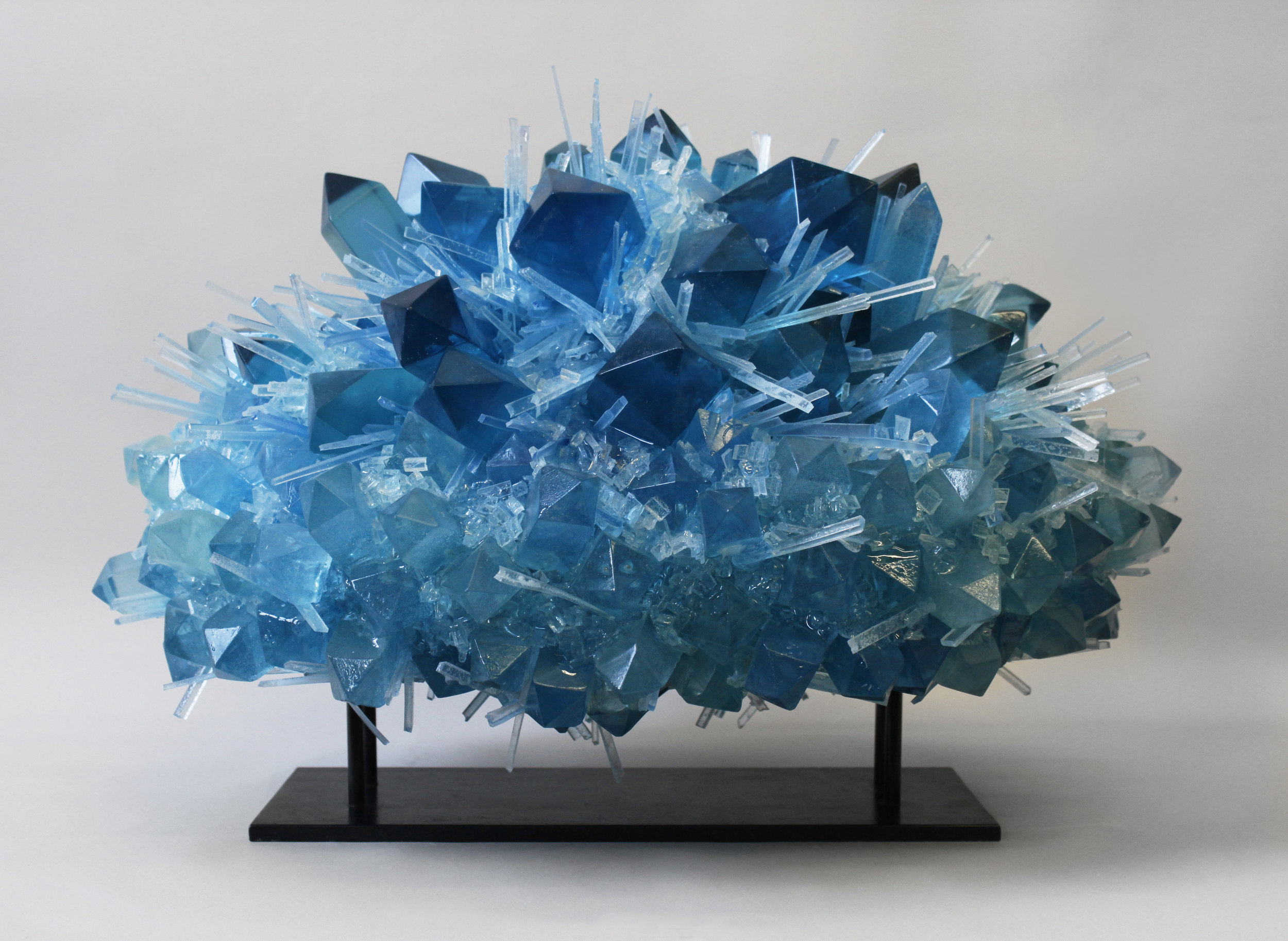 Ice Blue Crystal Explosion