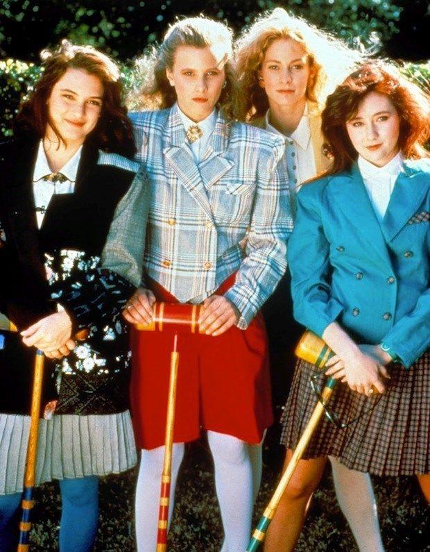 Winona Ryder, Kim Walker, Lisanne Falk, and Shannen Doherty in the original 1989 movie  Heathers.