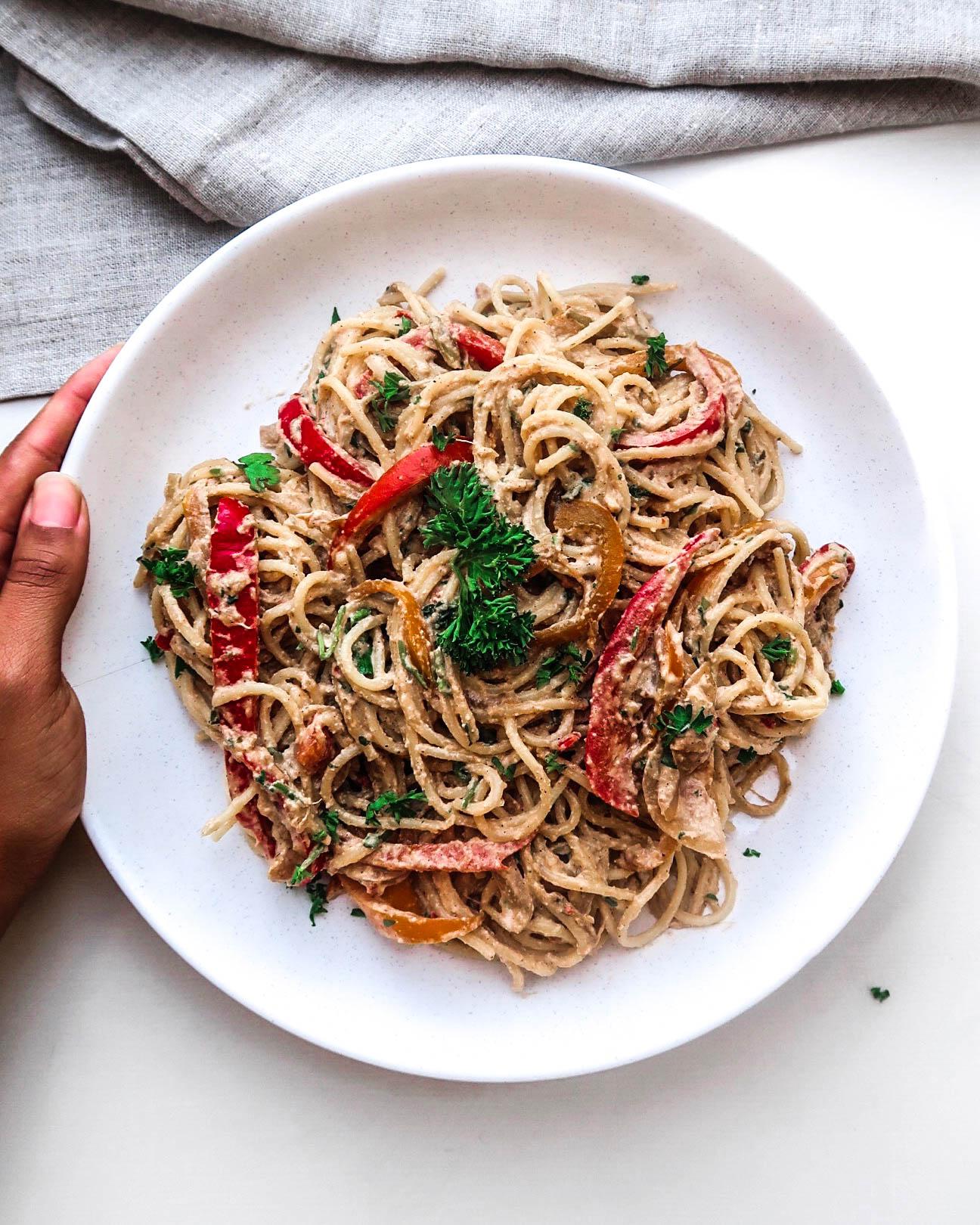 Rasta Pasta! - flavourful creamy and spicy pasta