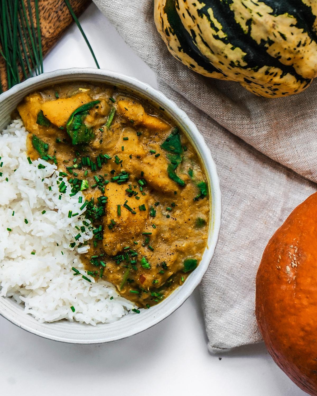 Lentil & Pumpkin Coconut Curry -