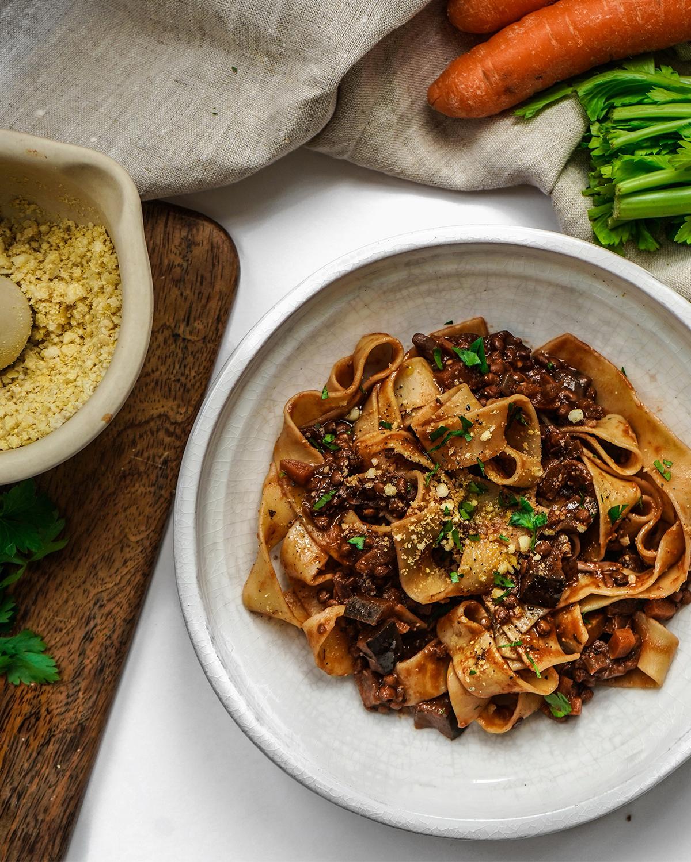 Vegan Ragu - hearty & full of flavour