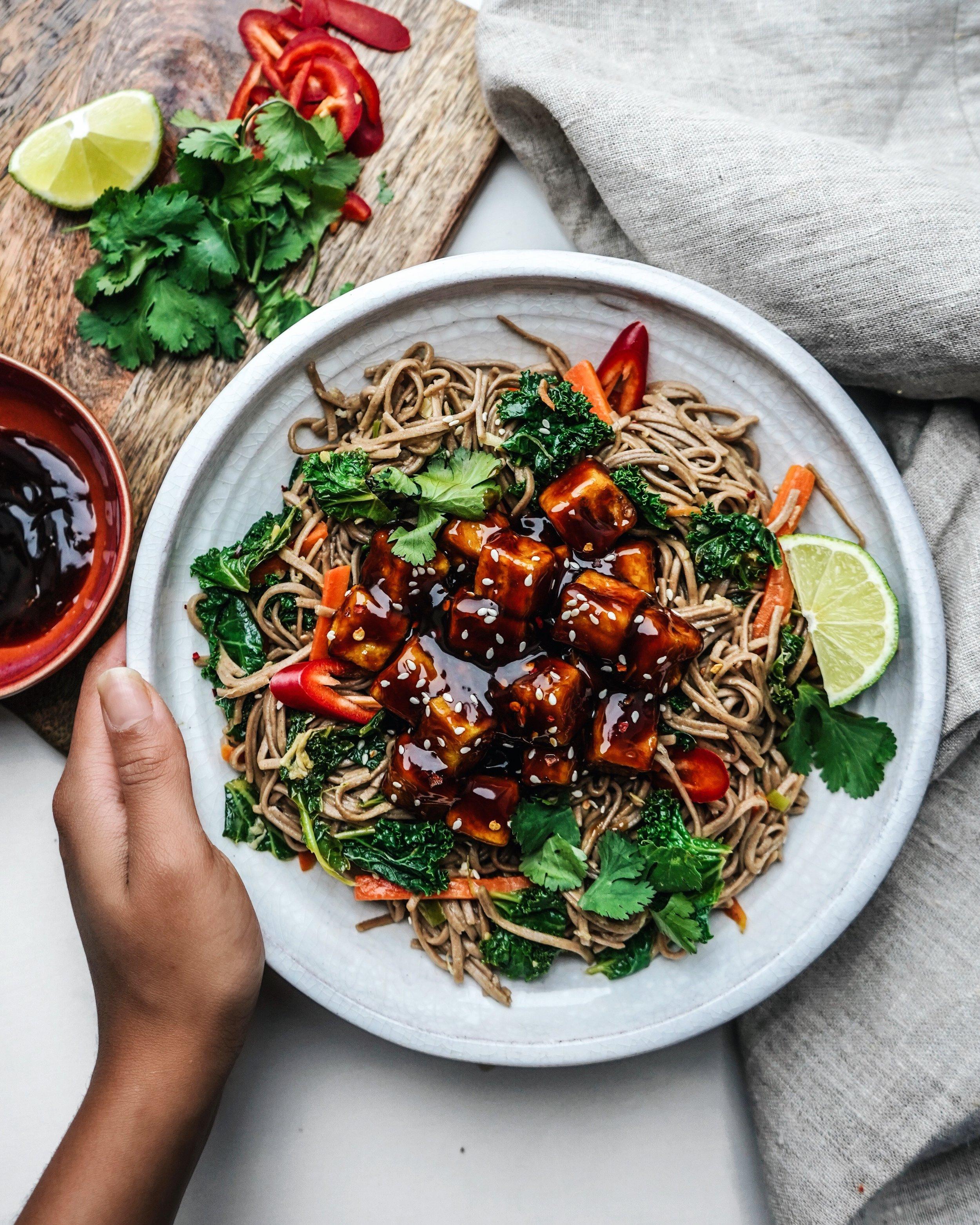 Teriyaki Burmese Tofu - soy-free recipe!