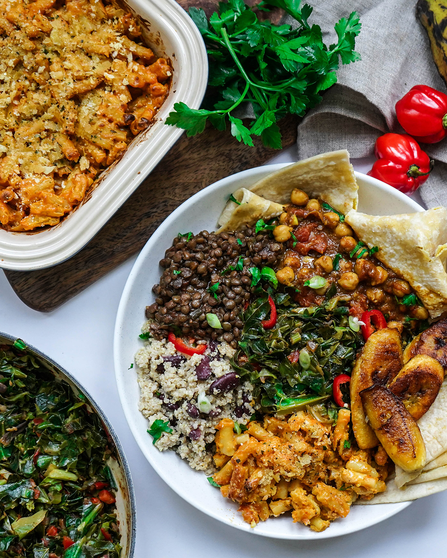 High Protein Vegan Caribbean Feast - Guaranteed to get the tastebuds dancing