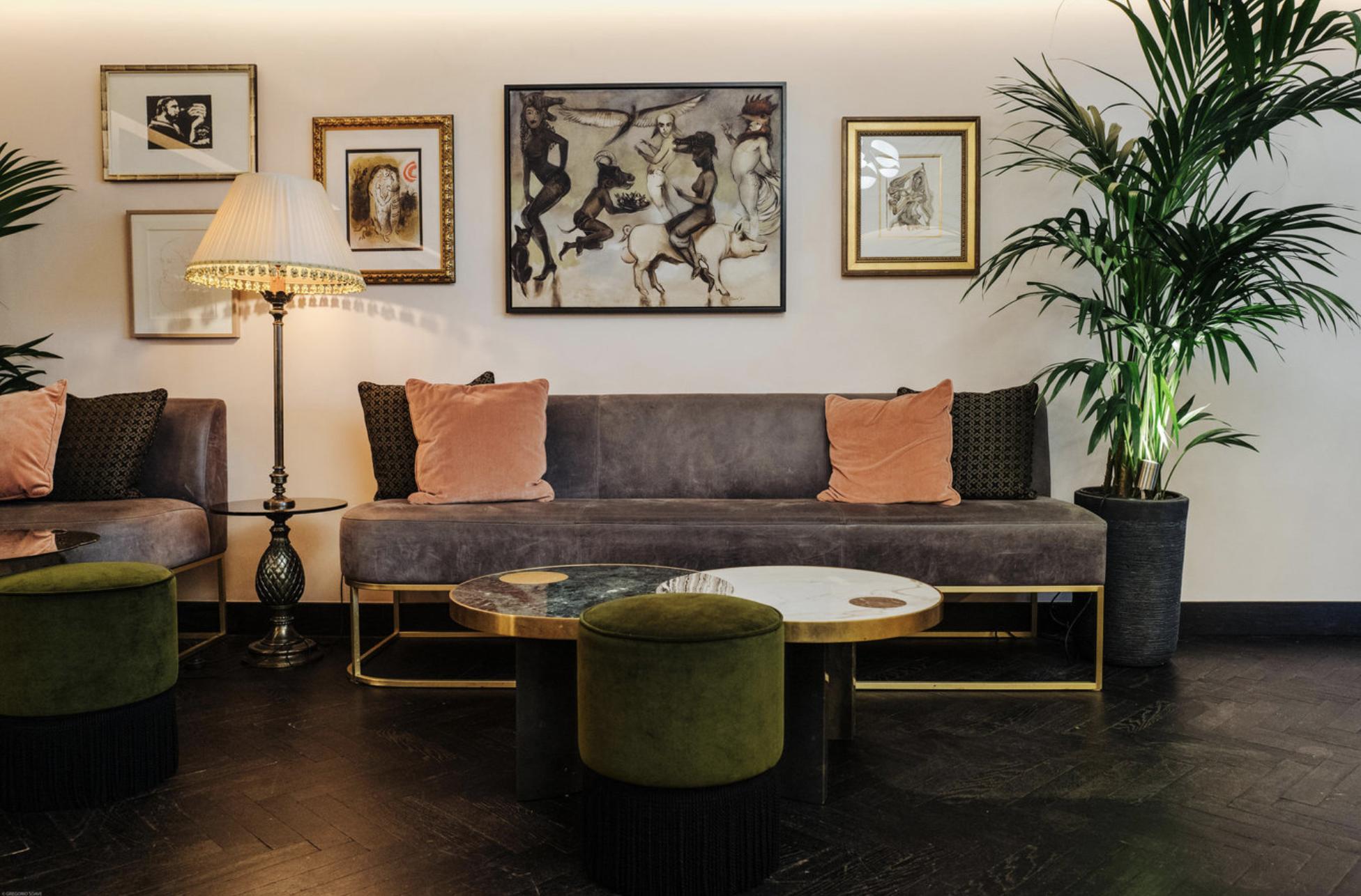 "ANTIQUE HERRINGBONE IN ""NOCTURE""  - MANDRAKE HOTEL - TALA FUSTOK DESIGN"