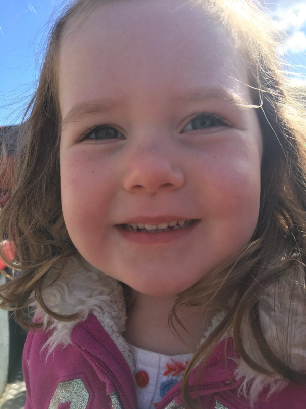 3.5 year old Edie is off to school next September and asks every morning if she's starting school today…it's gonna be a long year!!