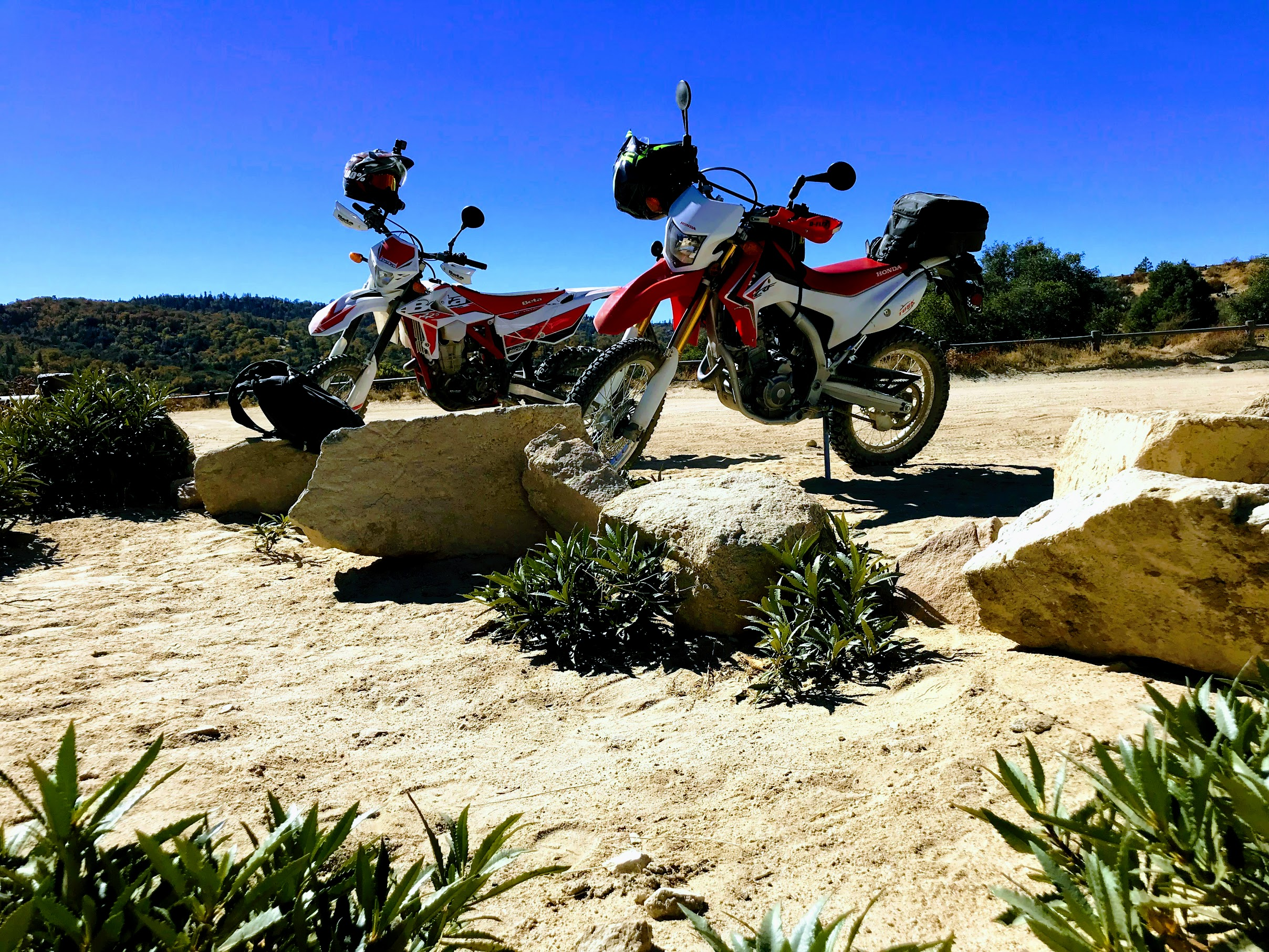 Honda CRF250L with Kenda K270 Dual Sport Tires & Wolfman Enduro Tank Bag