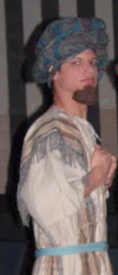 Me as Dan in  Joseph and the Amazing Technicolor Dreamcoat  (not a real beard)