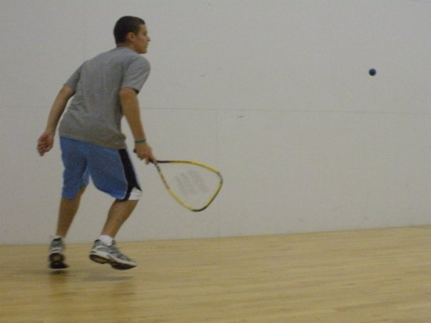 I may look like an intense racquetball player, but I assure you I am not.