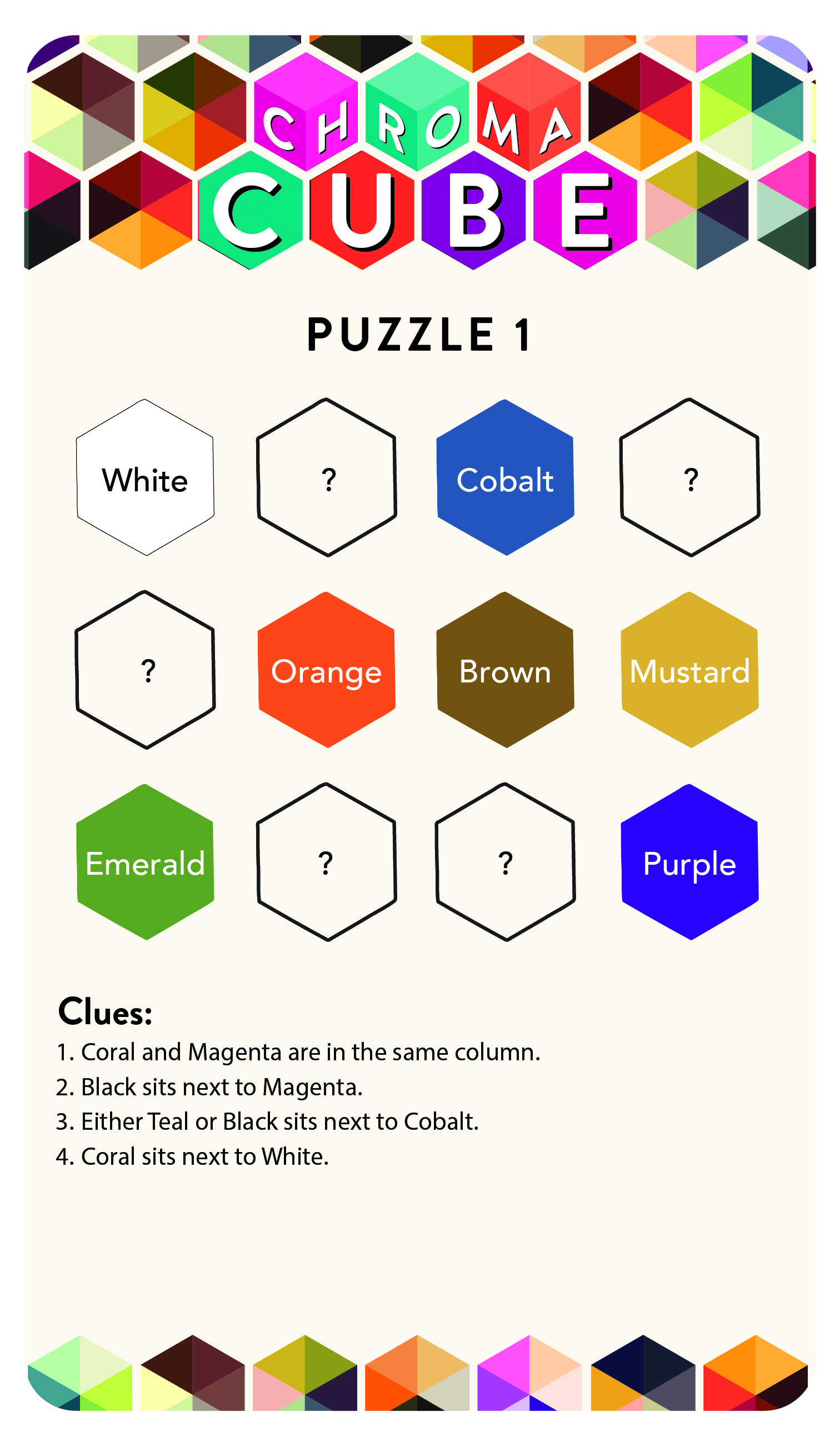 Chroma Cube Puzzle 1 - Puzzle Side