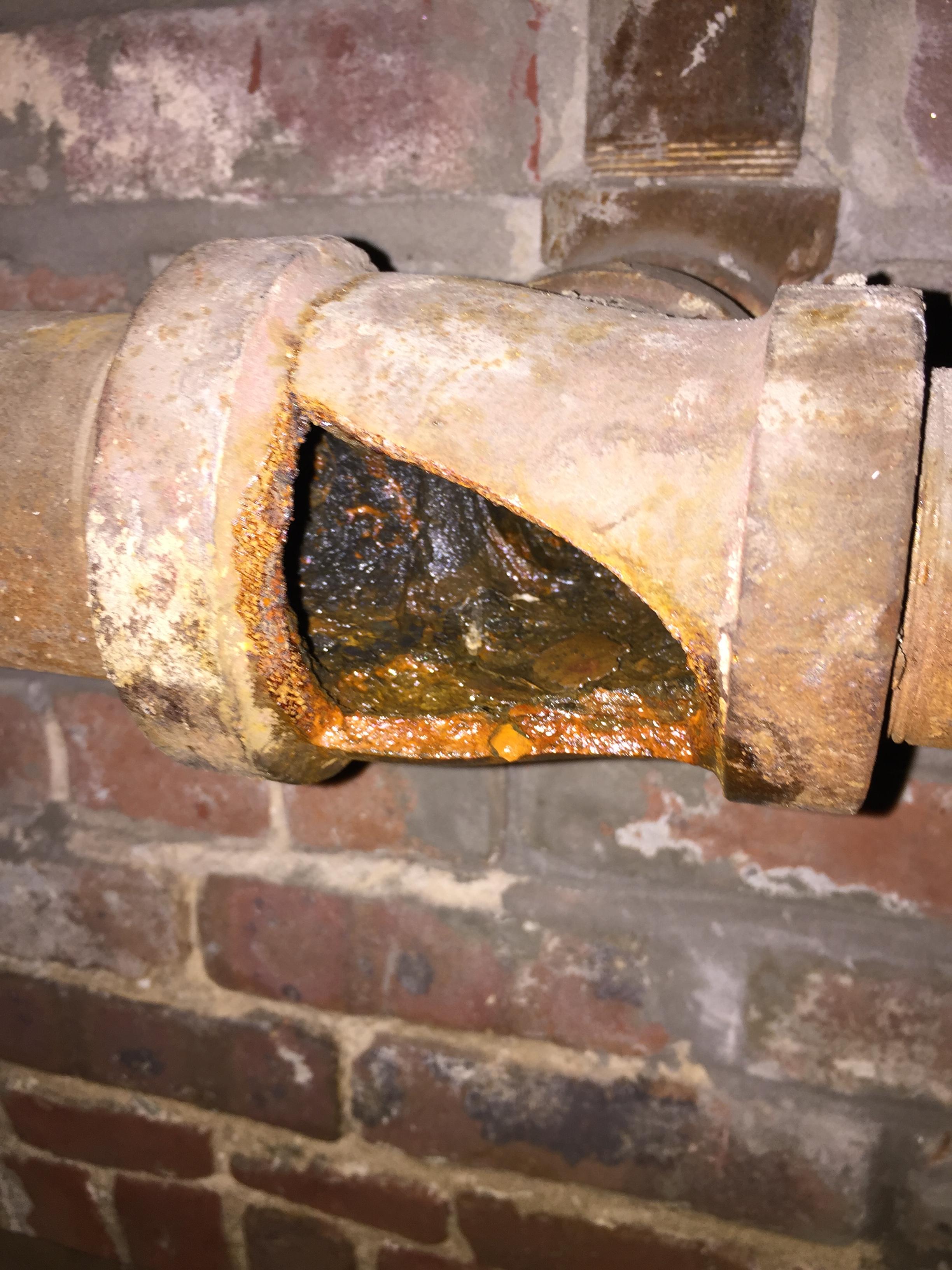 Sprinkler System Pipe Breach