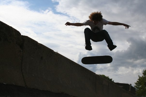 Skateboarding in teenage years