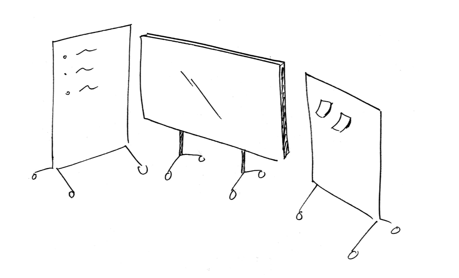 Use dividers such as whiteboards to help your team manage acoustic and visual stimuli.