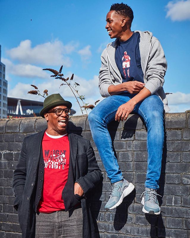 One of these images I told the Arsenal legend himself @wrightyofficial that I support United 🤣🤣 Can you guess which one??😭😭 ⠀ Last one we definitely spotted a spurs fan🤣🤣 ⠀ 👕 @wrightyofficial x @fokohaela x @welloffside [Link in his Bio] 📸 @l_aylott 🔥🔥 ⠀ ~ @nevsmodels ⠀ ⠀ ⠀ #nevsfam #nevs #uganda🇺🇬 #2019goals #modelboy #snapoftheday #ugandan #londonboy #menwithstreetstyle #blackmodels #blackmalemodels #smartcasual #menoutfit #quotestoinspire #ianwright #arsenalfantv #arsenalfc #arsenallegend #model📷