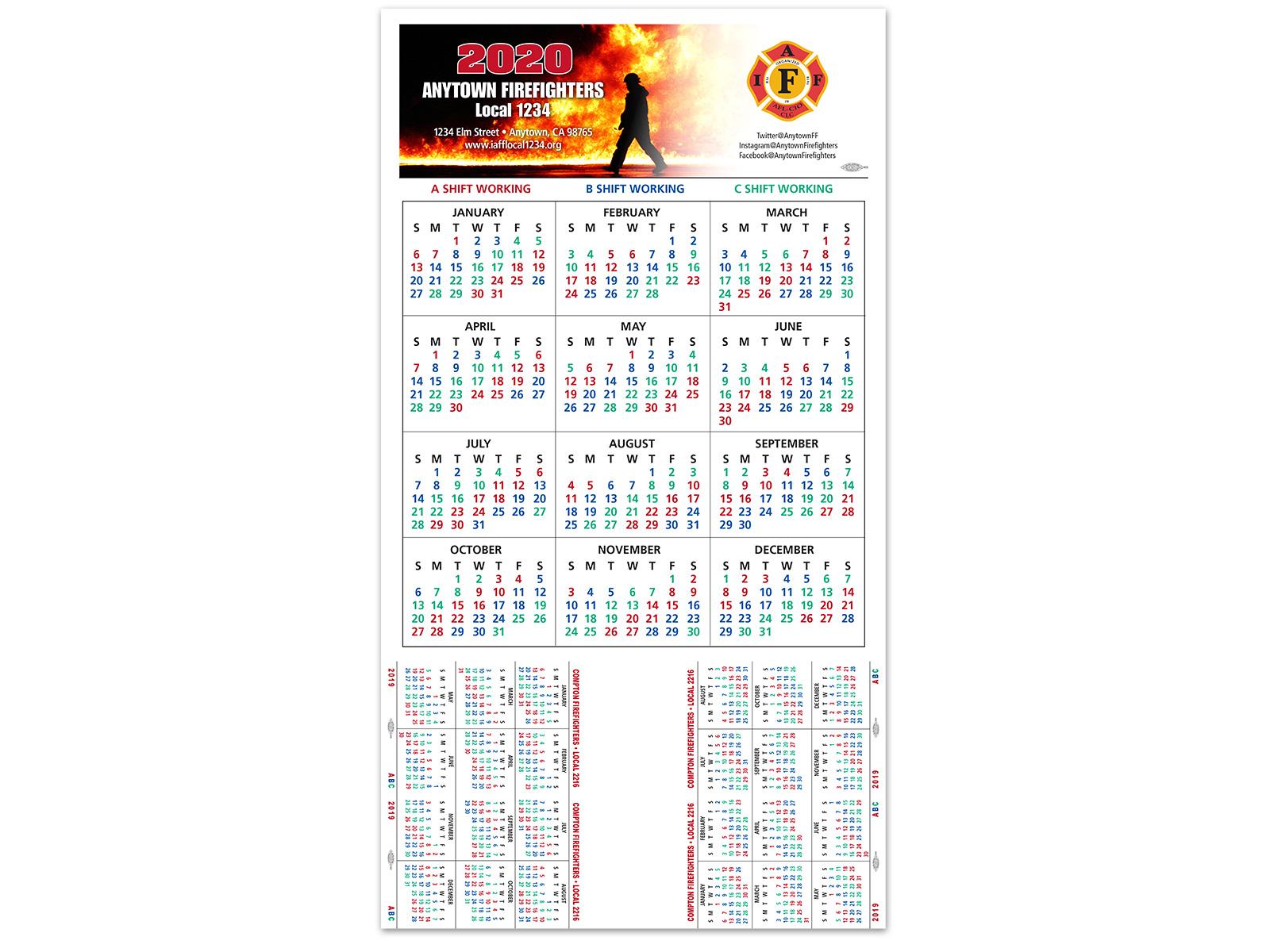 Shift Calendars — Firefighters Print & Design