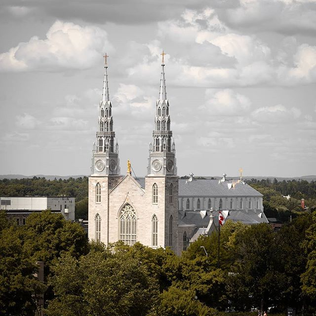 Cathedral 🖤 - - - - - #architecturephotography #canon #eos #ottawa #canada #architecture #ontario #photography #photographer #canon5d #church #cathedral #gothic #buildings #building #instagood #cloudy #clouds #agameoftones #moodygrams #moody #createcommune #613 #yow #ottcity #ottawaphoto
