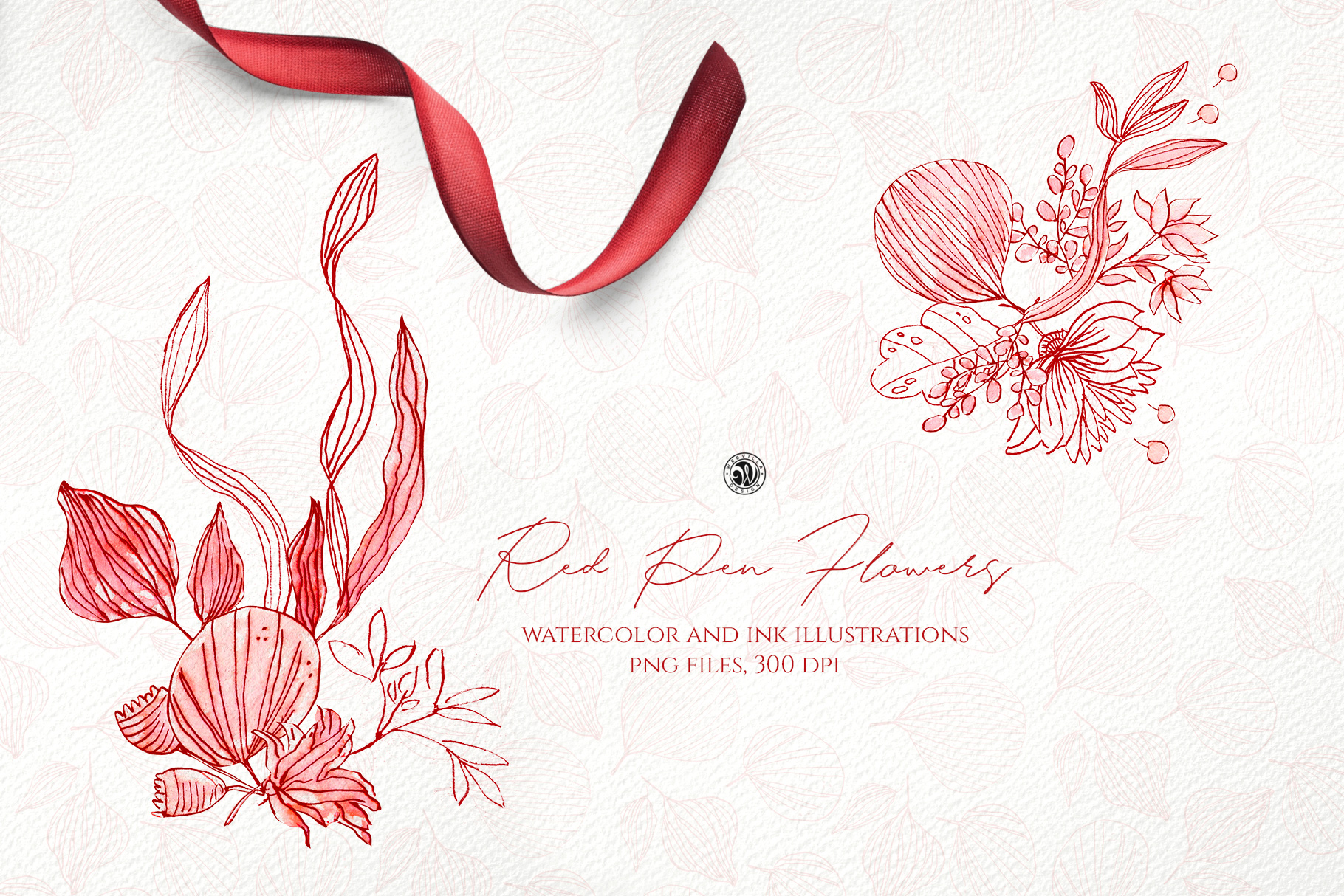 Red Pen Flowers - Price $14