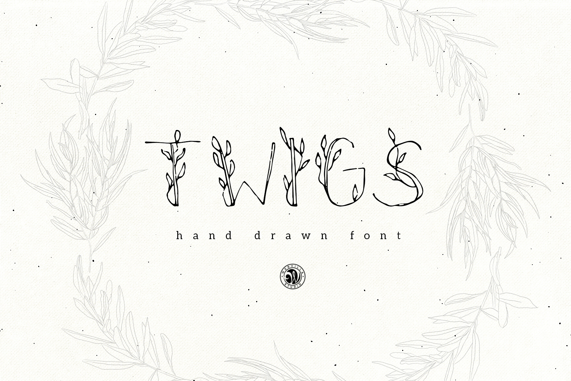 Twigs Font - Price $9