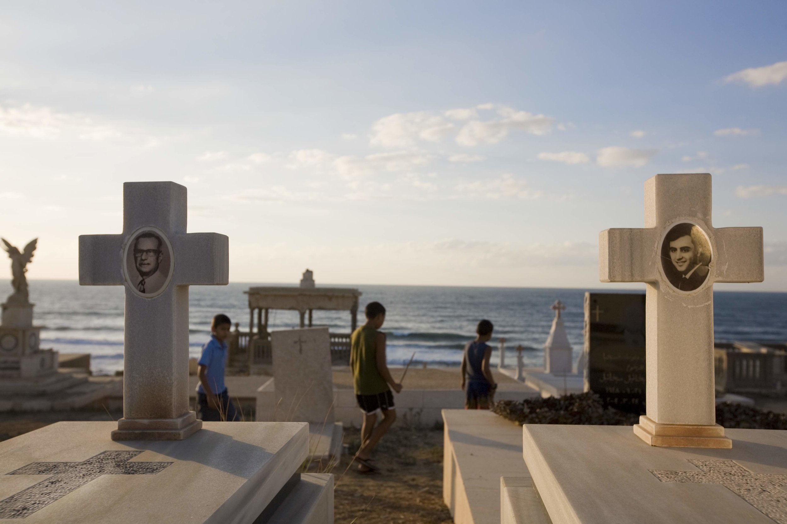 Children playing in the cemetery / Jaffa,  Israel 2010