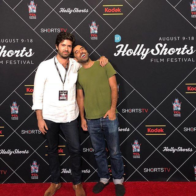With my best man Karim! Fun screening at The Hollyshorts film festival #hollyshortsfilmfestival