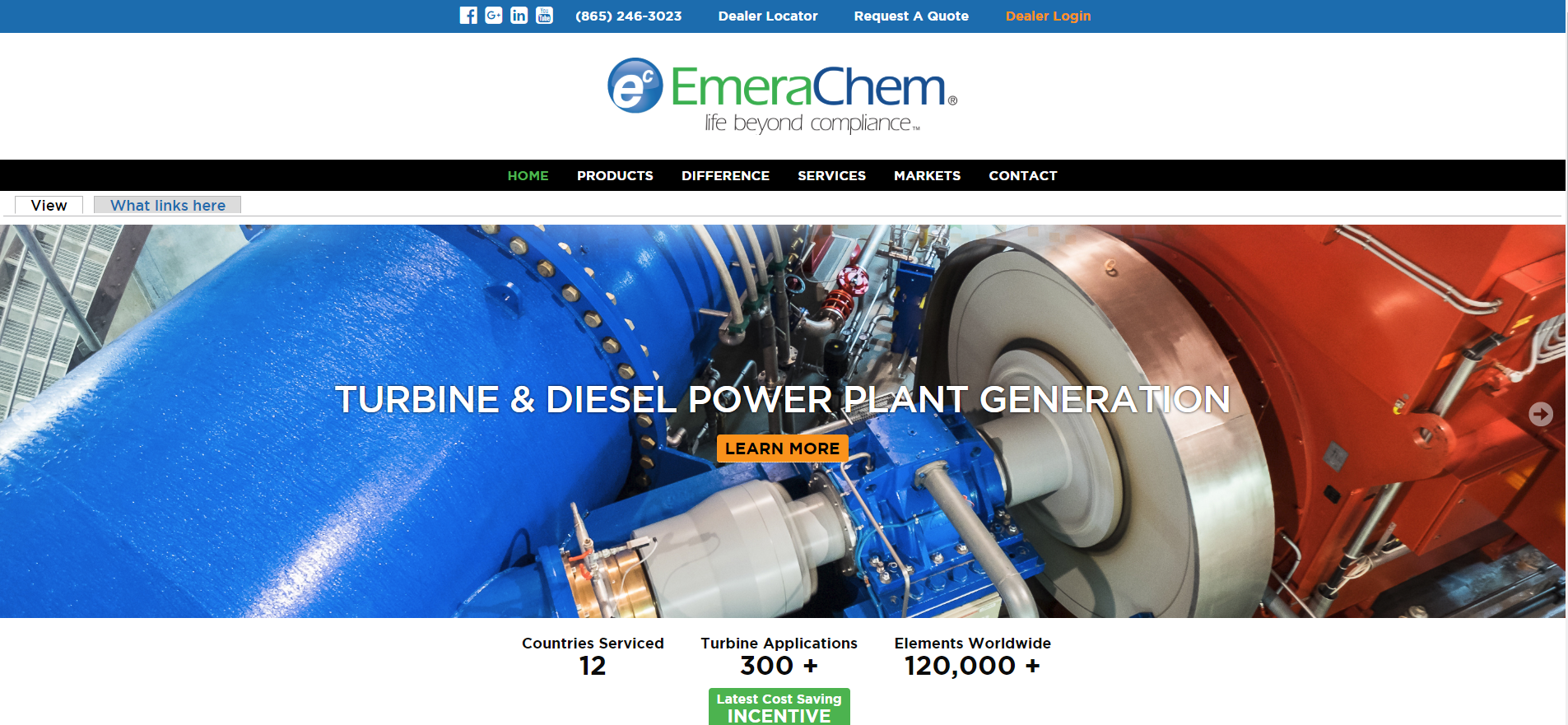Emerachem Website - In the summer of 2016, EmeraChem decided to redesign their website with our creative guidance. In order to further EmeraChem's focus on Dealer Network Effectiveness and the EmeraChem Toolbox, we designed a website to continue focusing on these two key areas.
