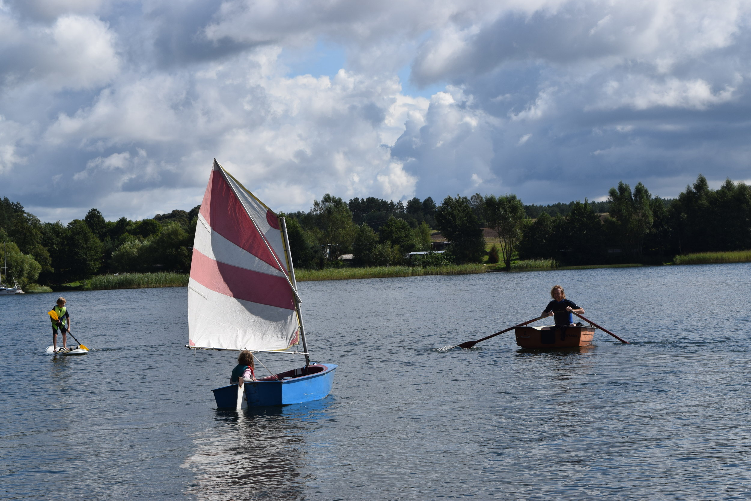 Teaching the children to sail by their own