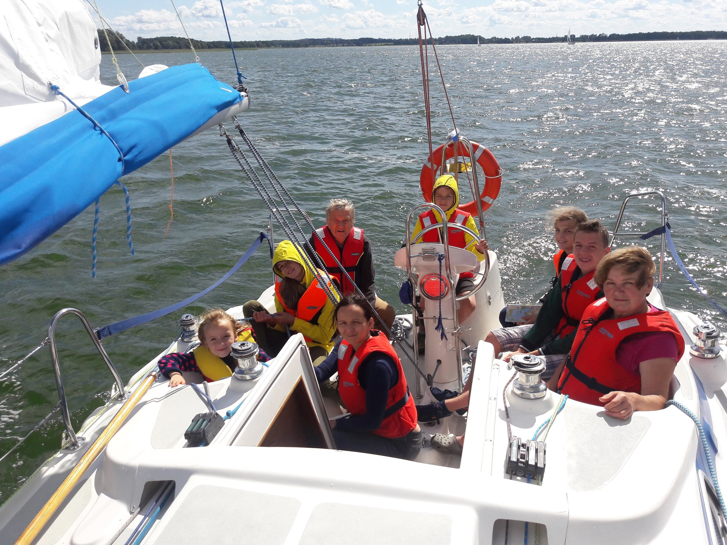 The crew on their most recent family sailing