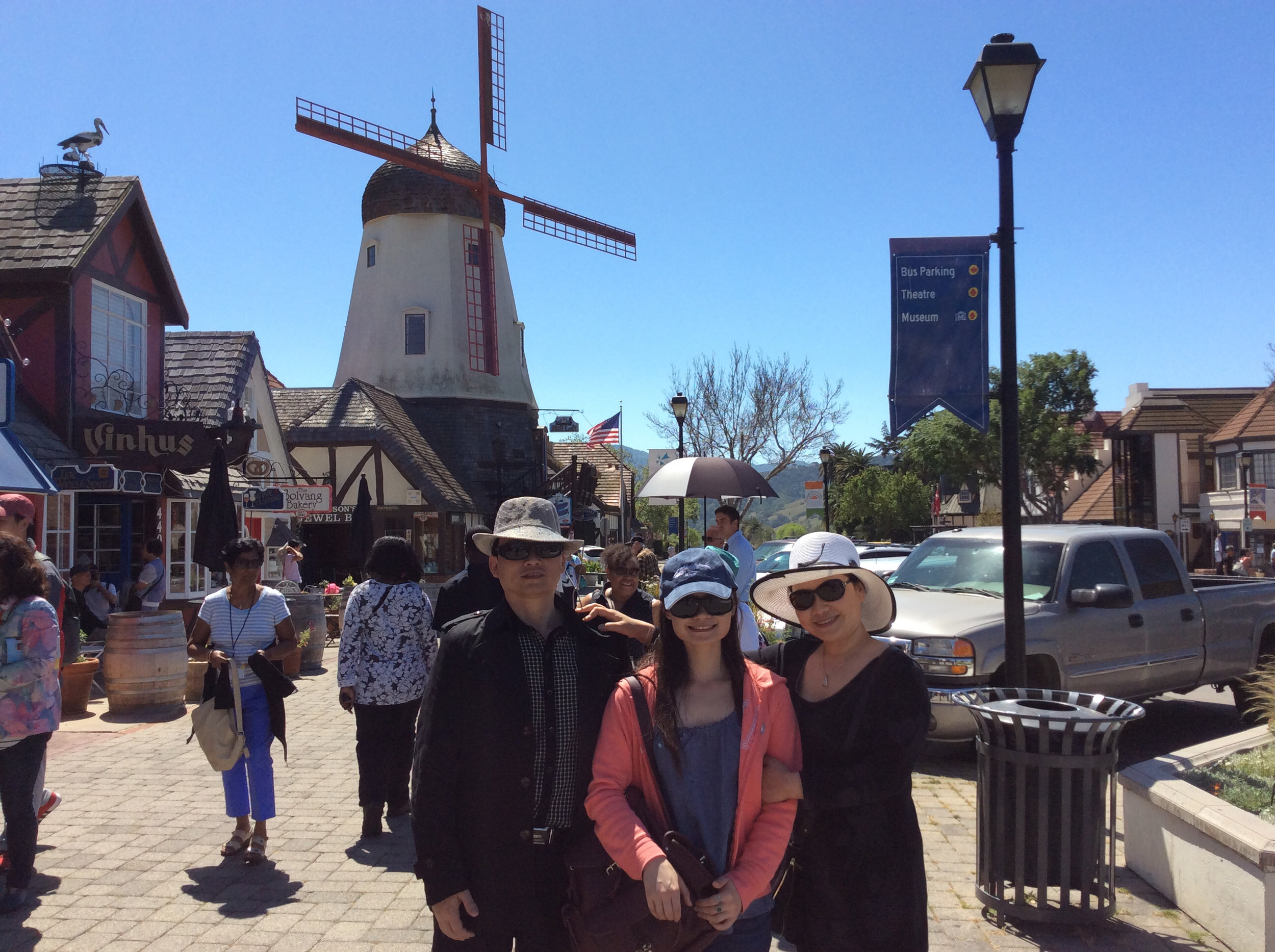 Simao and her parents in Solvang, CA