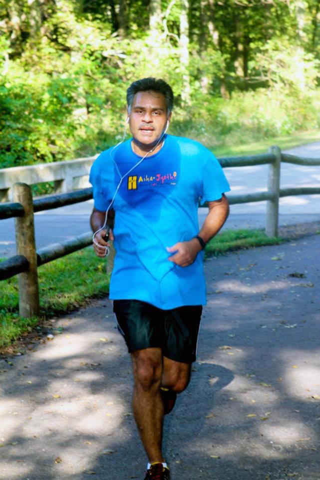 Venkatesh on a run
