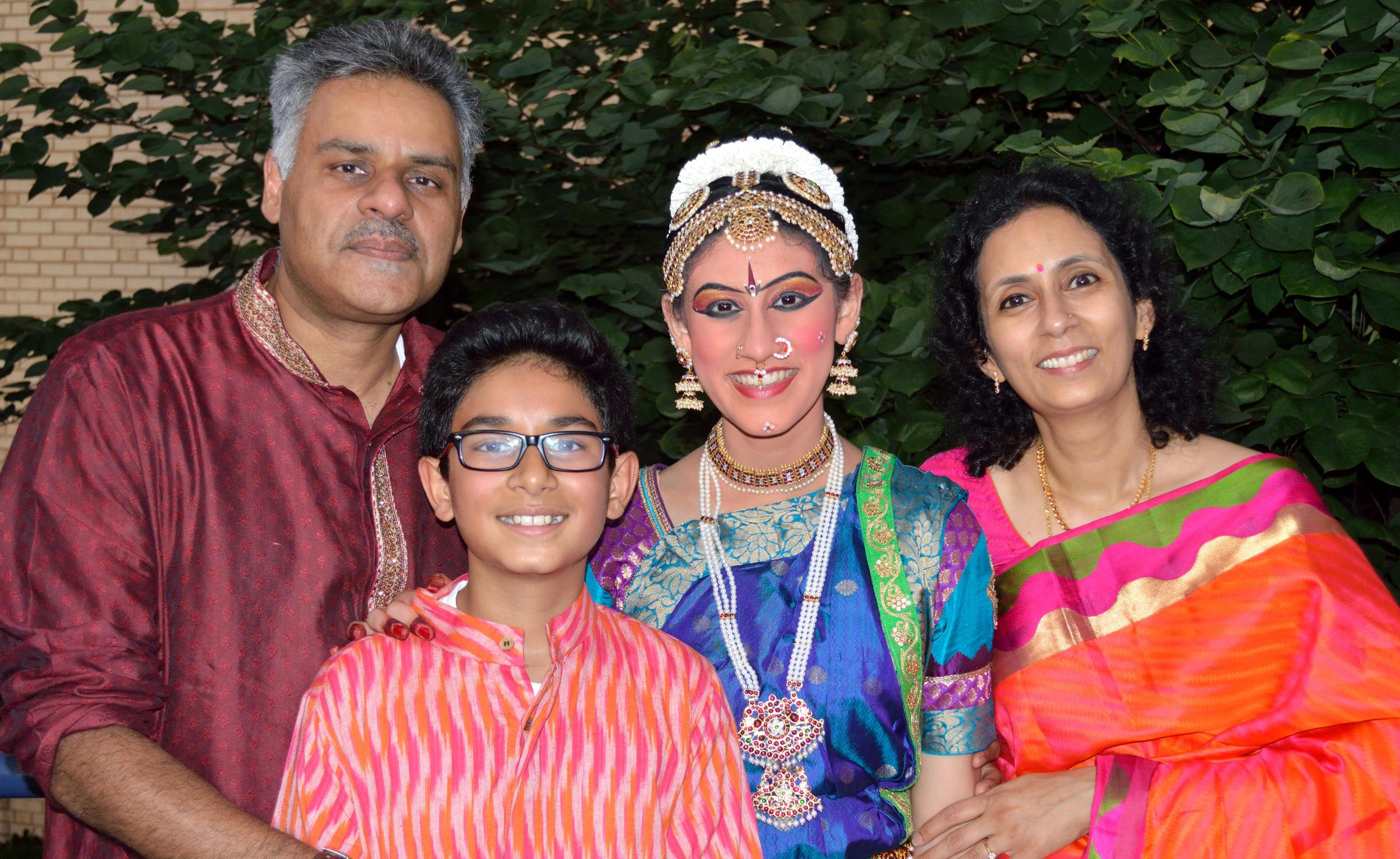 Venkatesh and family in Arangetram