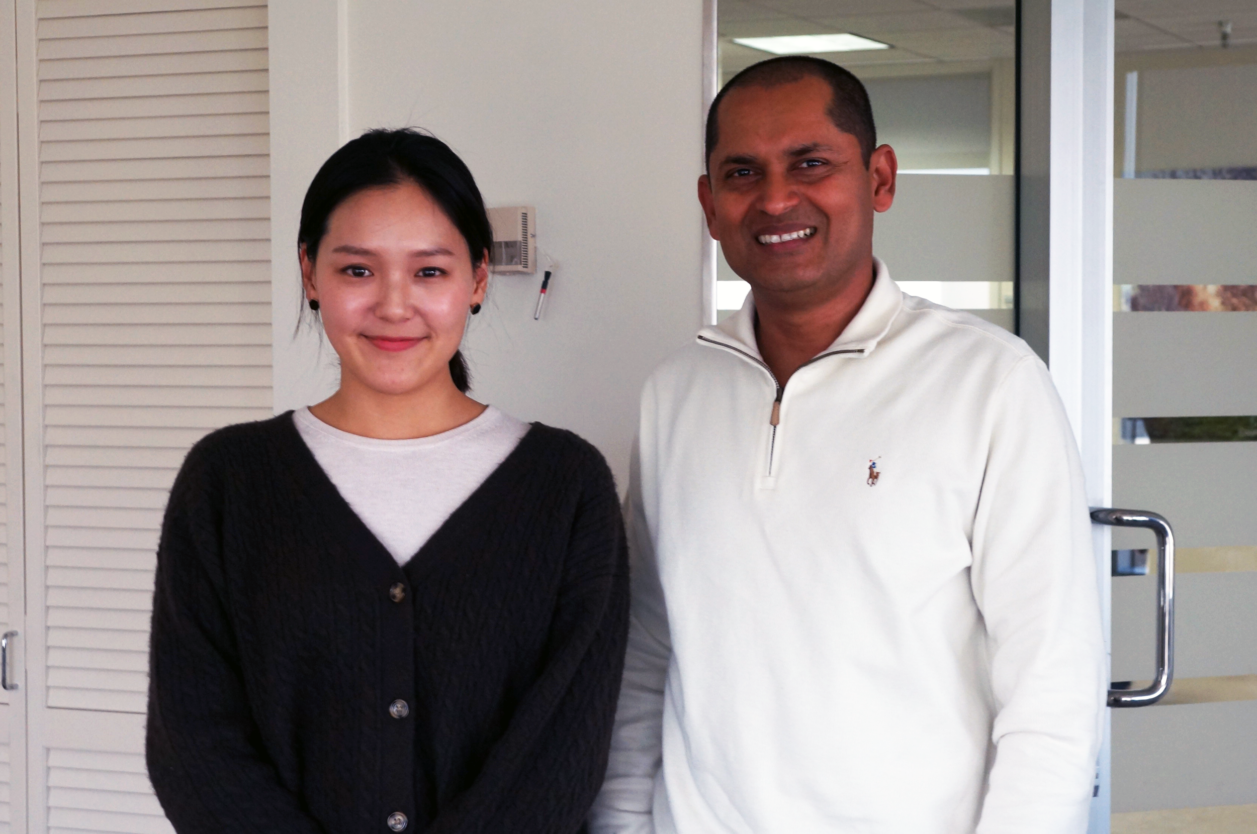 Mary at IBM Silicon Valley Lab with Dinesh Nirmal