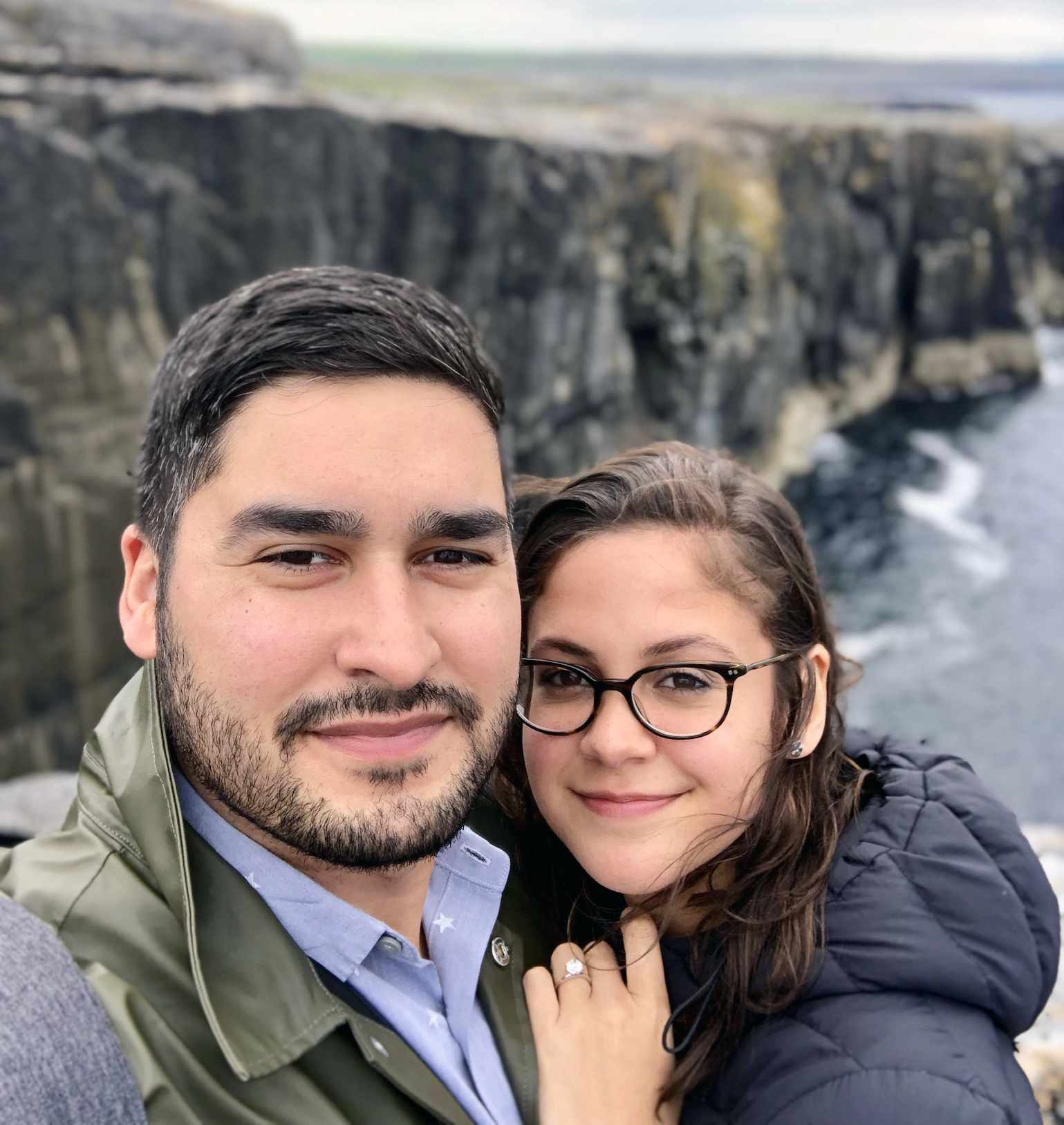 Cliffs of Moher in Ireland, where Andrea and Mike got engaged May 2019.
