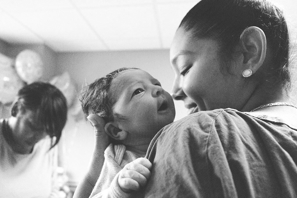 3 Generations, Grandma, Mama and Baby in Hackensack Hospital, New Jersey
