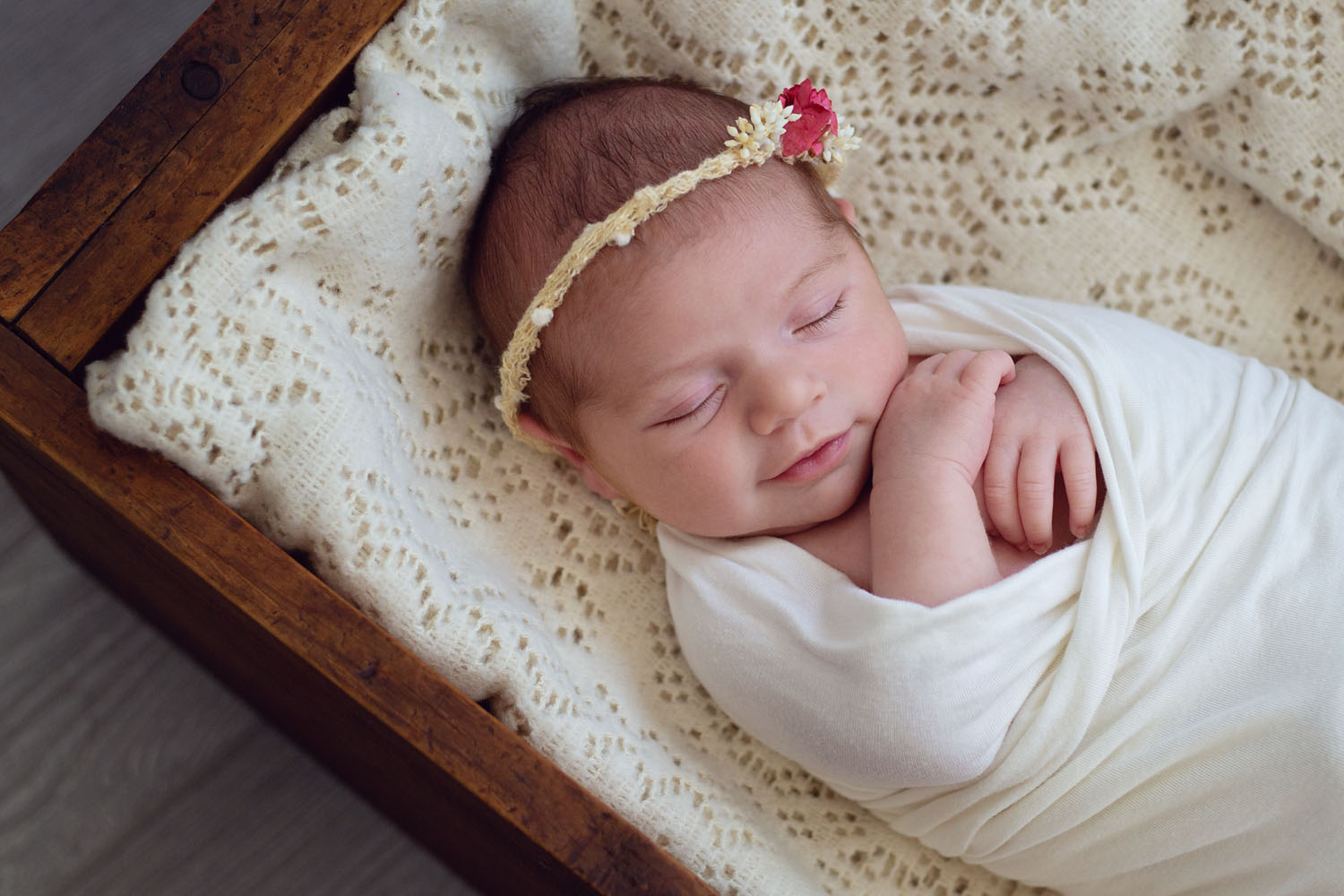 newborn photography of a baby girl in nutley new jersey