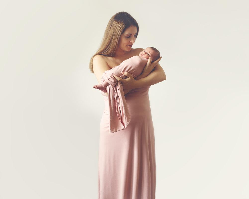 newborn photography of mama and baby